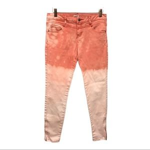 Forever 21 Pink Bleach Dyed Jeans 28 Ankle Zip